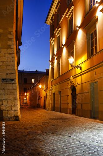 Fototapeta Kazimierz, former jewish quarter of Krakow: Jozefa Street, PL
