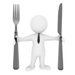 Benimmregeln mit Messer und Gabel
