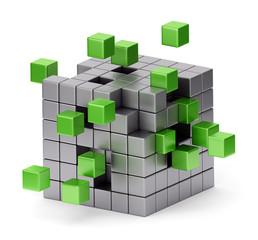 Assembling cube concept