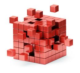 Assembling cube structure concept