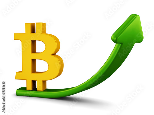 Growing bitcoin graph concept