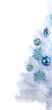 White Christmas tree isolated on white