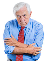 Angry, mad, annoyed senior, old businessman