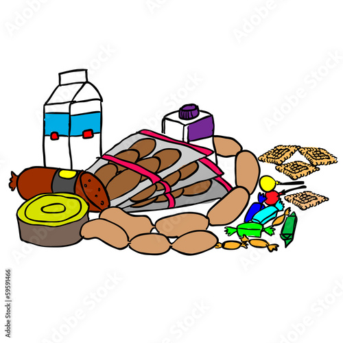 Composition with food products isolated