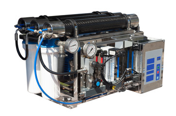 Reverse osmosis system. Isolated over white