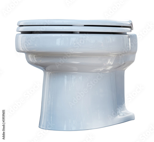 White toilet bowl. Isolated