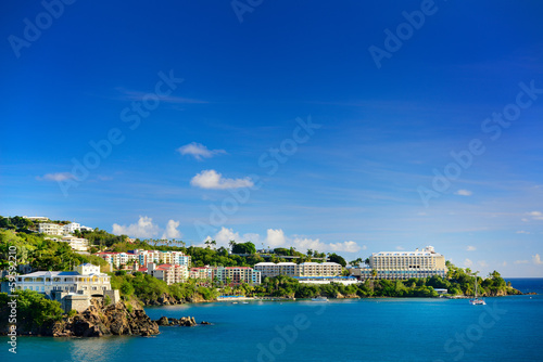 View of the harbor in St. Thomas, U.S. Virgin Islands.