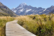 Boardwalk towards Mount Cook, New Zealand