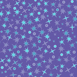 Seamless pattern with stars and circles