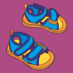 vector Illustration of a pair of girl shoes