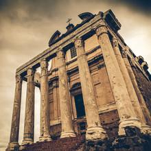 Vintage Faustine dans le Forum romain, à Rome, en Italie, converti en