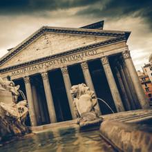 Coaster Vintage - Panthéon, Rome, Italie