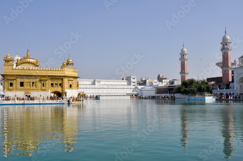 The Sikh Golden Temple in Amritsar (India)