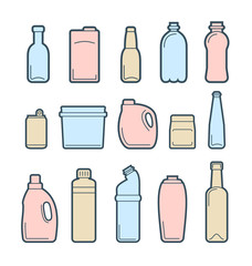 Beverage container icons