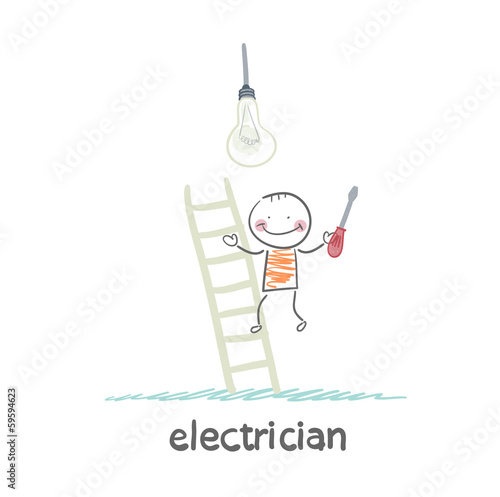 electrical checks on the stairs bulb