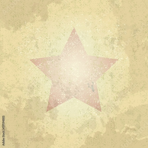 retro star, vector  illustration