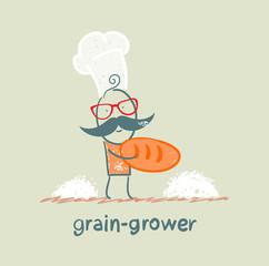 grain grower keeps the bread of flour
