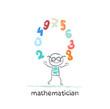 mathematician juggles figures