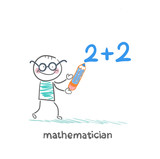 mathematician wrote in pencil task poster
