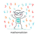 mathematician is the rain of numbers poster