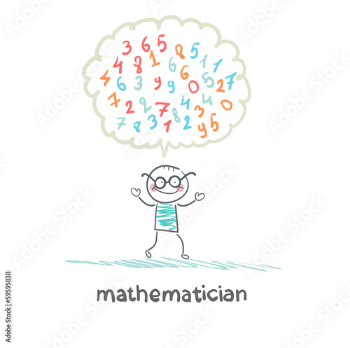 mathematician thinks about numbers