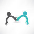 handshake and friendship icon