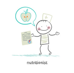 nutritionist shows the document speaks of healthy food