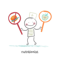 nutritionist  promotes healthy food