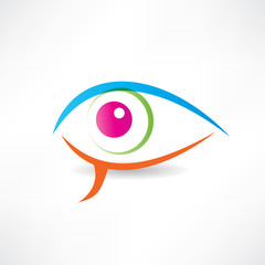 abstract human eye icon