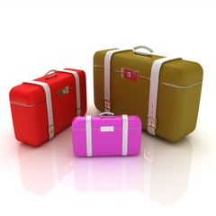 Traveler's suitcases