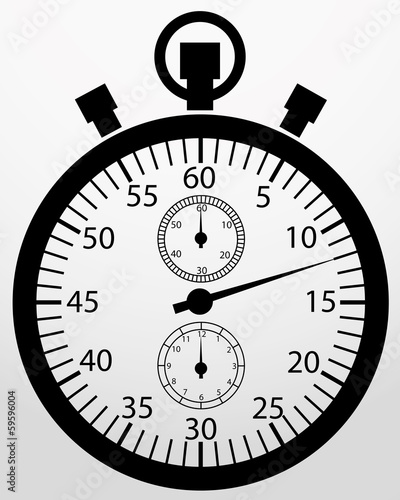 Stopwatch app icon, vector illustration