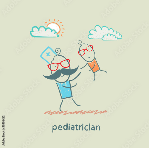 pediatrician playing with child