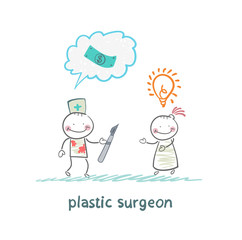 plastic surgeon thinks about money and listening to the patient