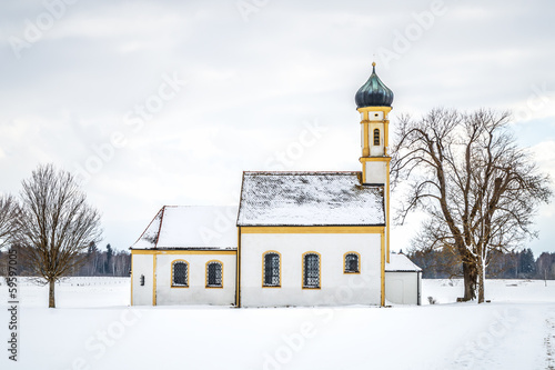 winter scenery church