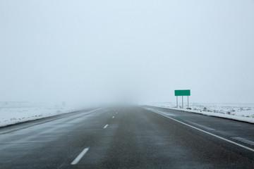 US snowing I 15 interstate snowed road in Nevada