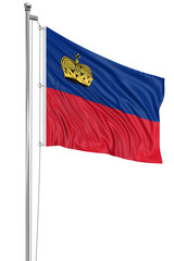 3D flag of Liechtenstein