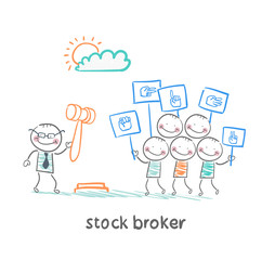stock brokers buy stocks