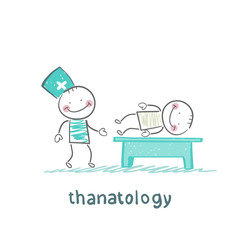 thanatology  studies the dead man