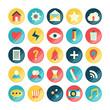 Mobile app icon set. Vector illustration