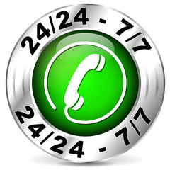 Vector green phone icon