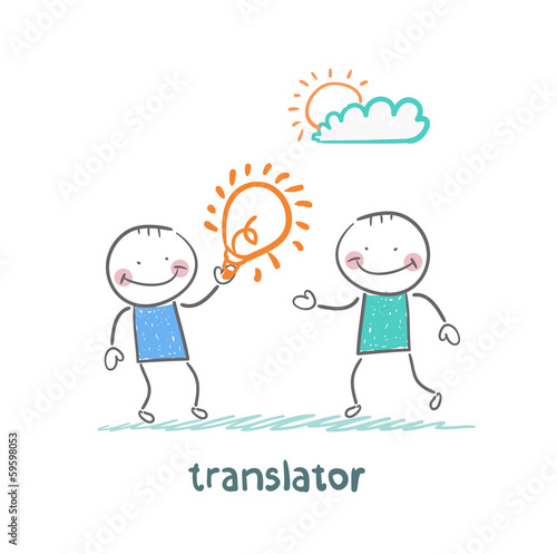 translator gives an idea man