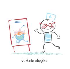 vertebrologist tells a presentation on the spine