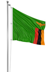 3D Flag of Zambia
