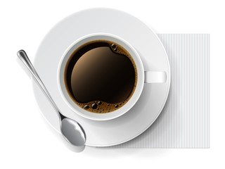Vector coffee cup
