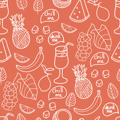 Fruit seamless background