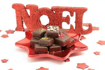 assiette de confiseries  aux chocolats