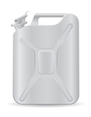 metallic jerrycan vector illustration