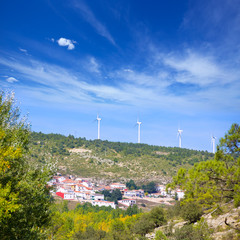 Cuenca San Martin de boniches village with windmills