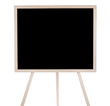 Empty, school blackboard (chalkboard) isolated on white