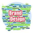 Brand design word cloud